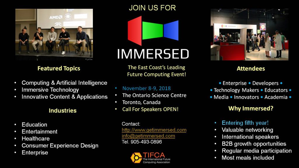 Immersed 2018 Call For Speakers Open! | The International Future