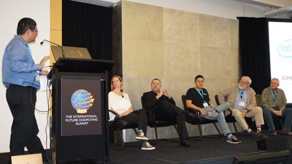 Dean Takahashi from VentureBeat moderating the Futurists Panel at the inaugural International Future Computing Summit.