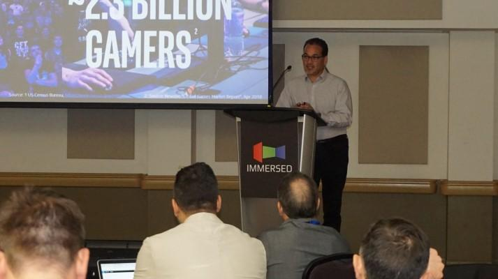Frank Soqui, Vice-President at Intel, speaking at Immersed 2018.